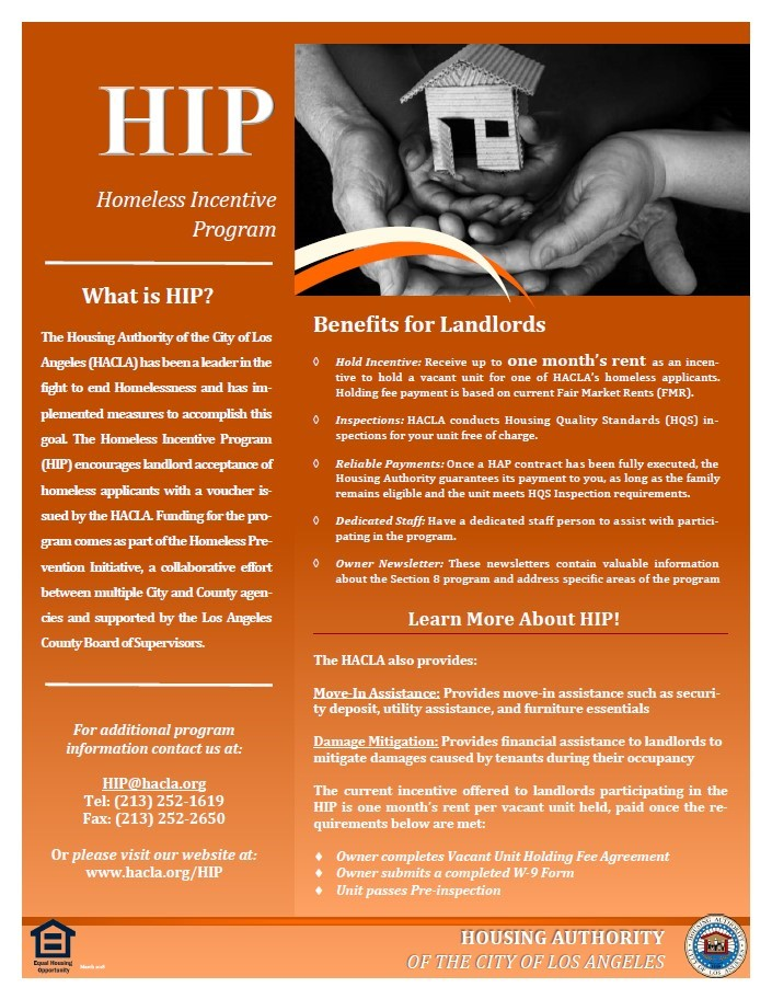 Learn About HACLA's Homeless Incentive Program