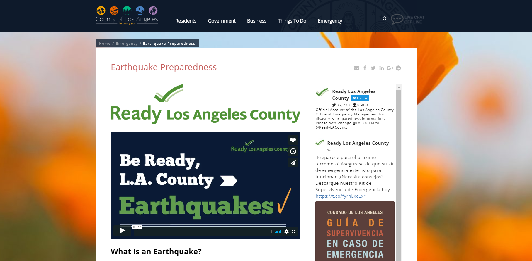 Earthquake Preparedness by L.A. County