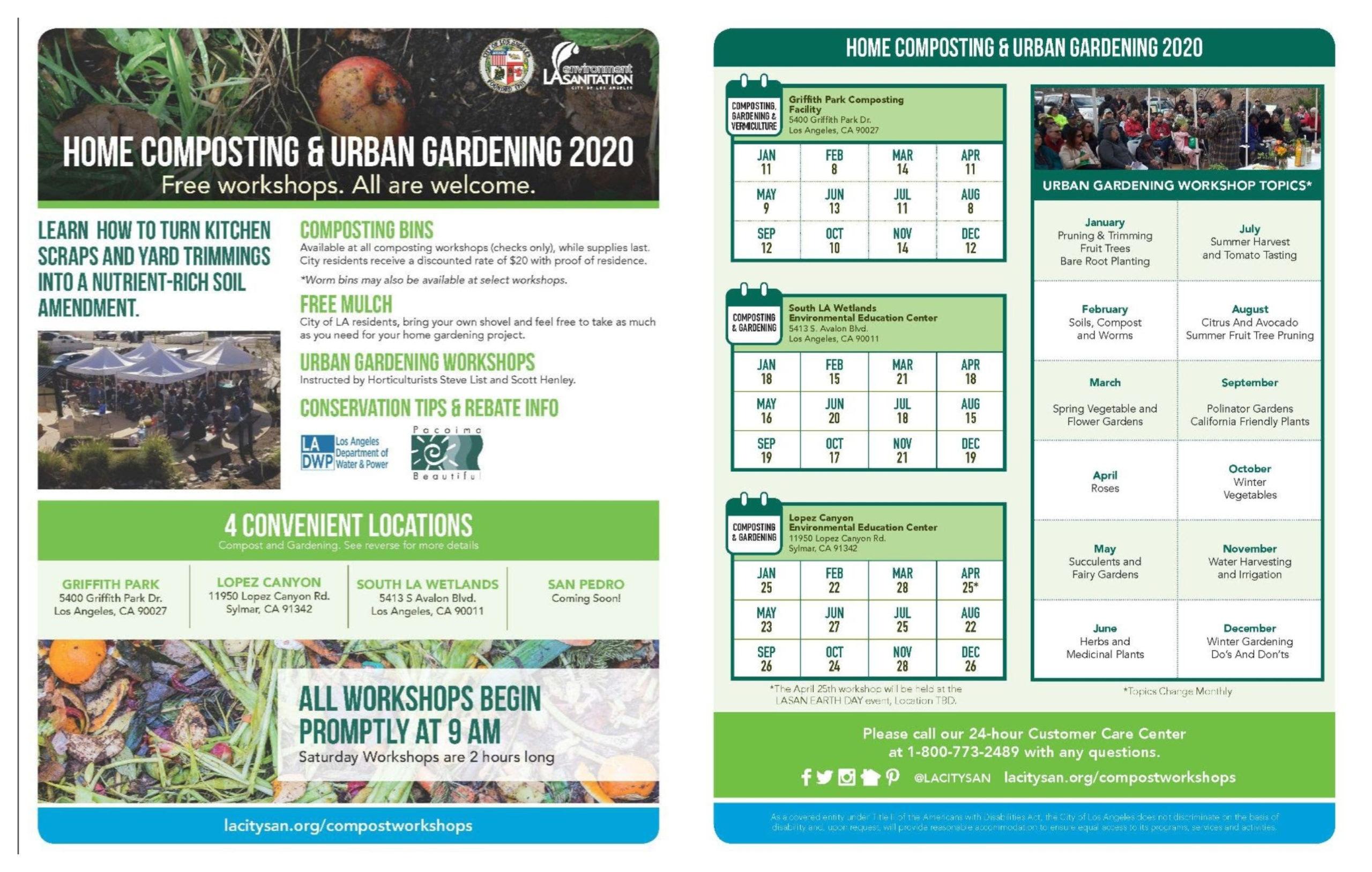 home composting & urban gardening 2020
