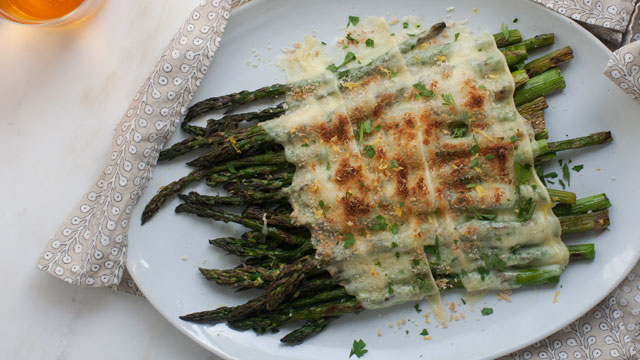 Grilled Asparagus with Raclette