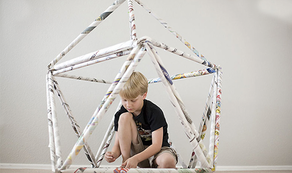 Need a Stay-Cation? Camp Out in the Living Room With a Newspaper Fort