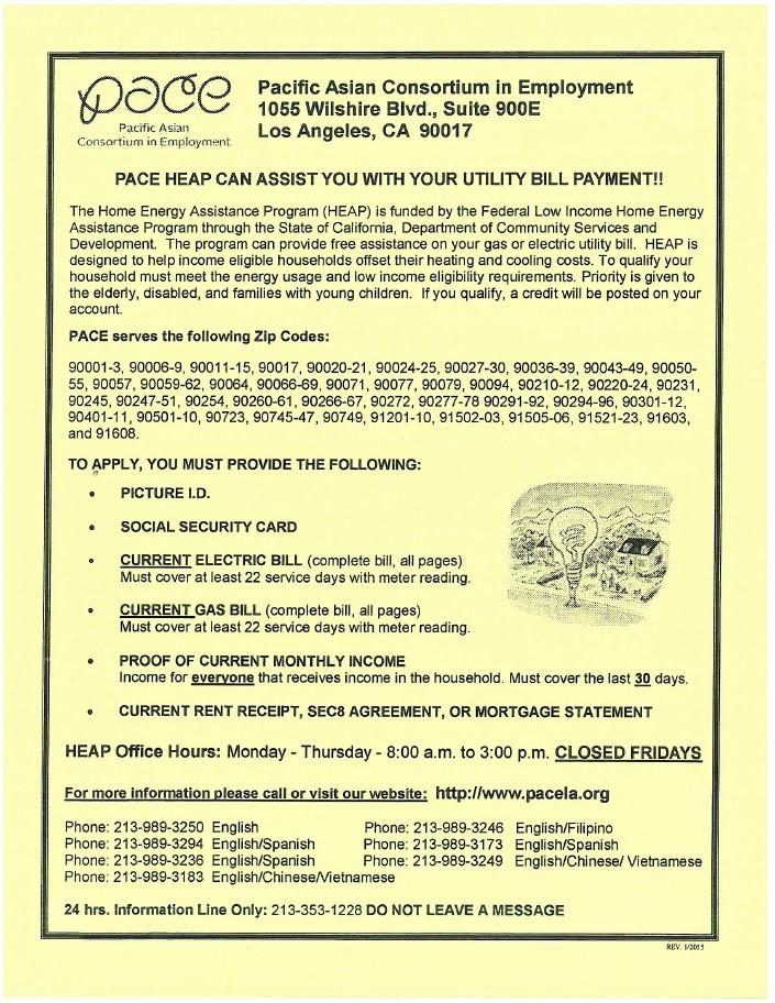 PACE Utility Assistance Program!