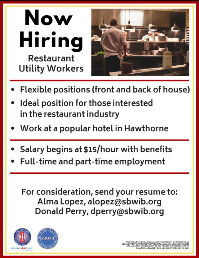 Hawthorne Job Fair – Restaurant Field