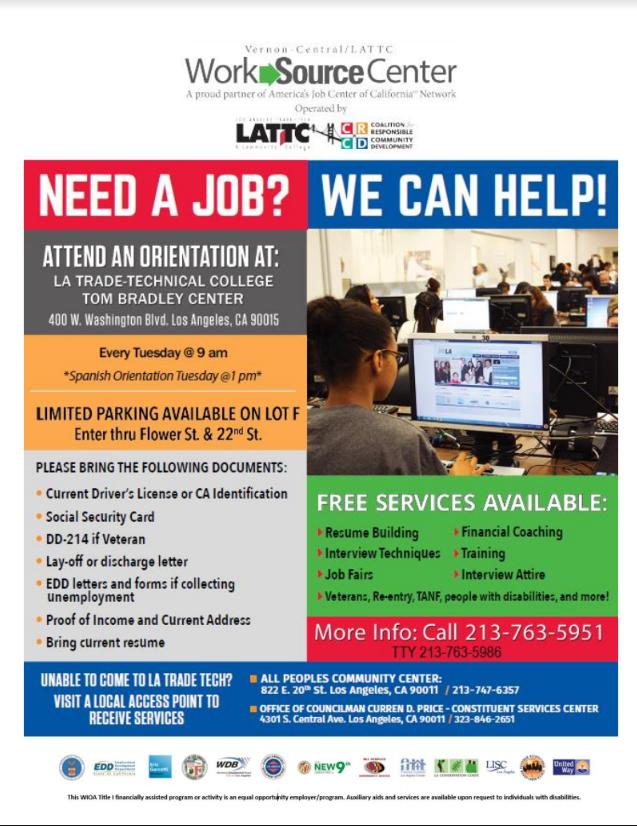WorkSource Center Job Fair