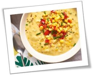 Taste this delicious corn chowder!