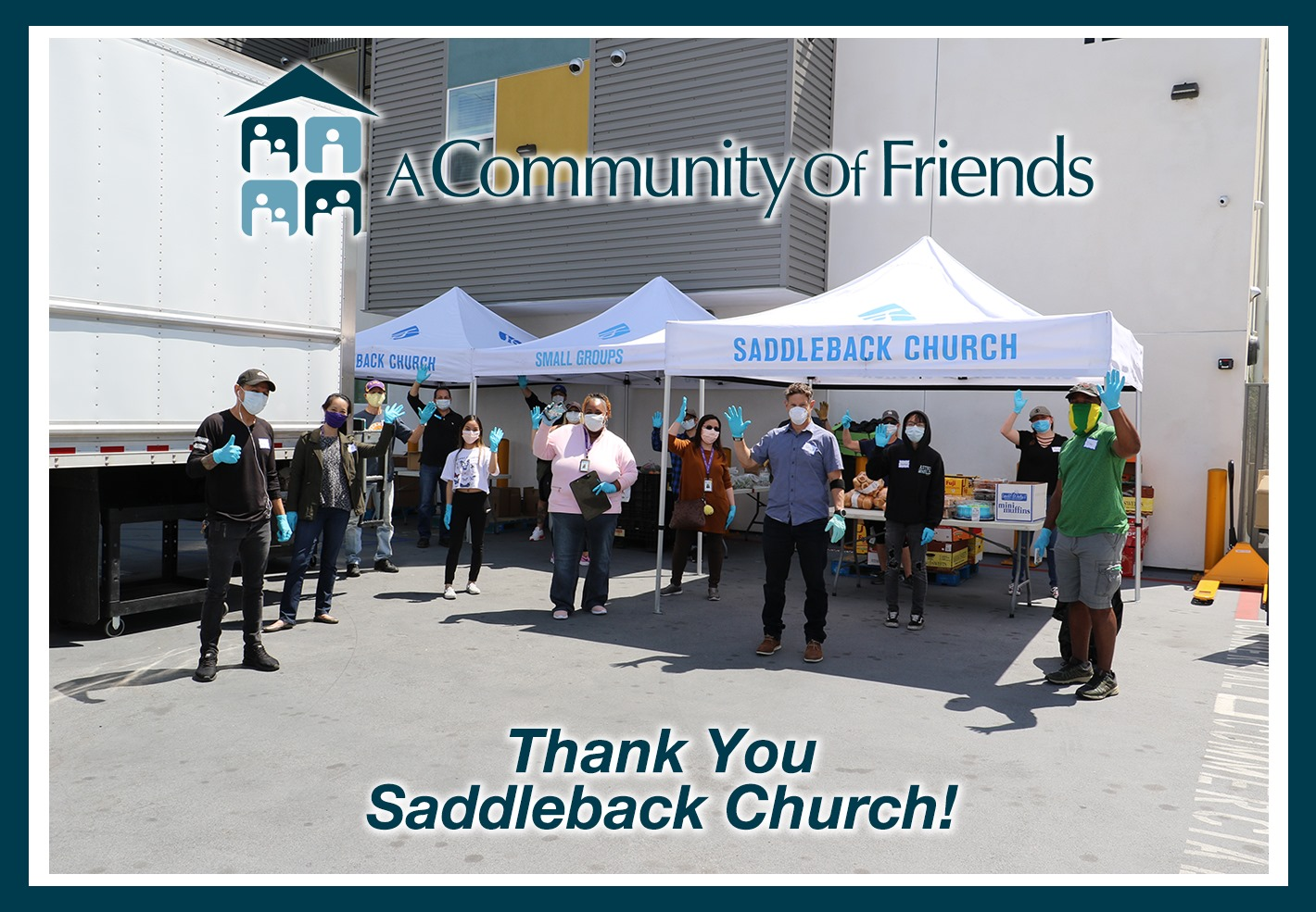 Fullerton Heights Residents Receive Essentials from Saddleback Church